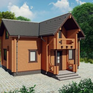 Деревянный дом Волынь D016, 9х7,5м. Строительство, низкая цена, для комфортного загородного дома. Купить дом под ключ, готов за 1-3 месяца. +380954511598