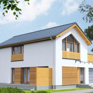 S014 дом из СИП-панелей Сендай, строительство домов из сип панелей