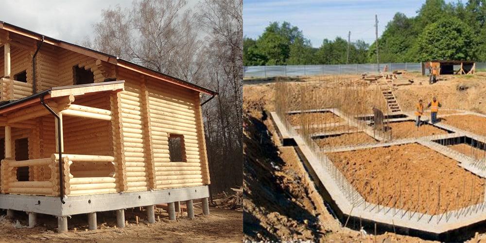 Типы фундаментов для деревянных домов