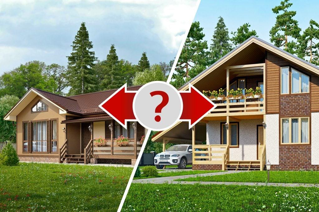 Что построить - одноэтажный или двухэтажный дом