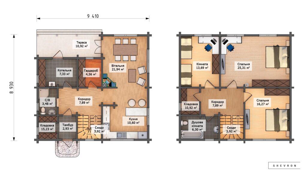 Проект деревянный дом, строительство дома из бруса, сруб. из дерева, деревянный дом цена план дома D059