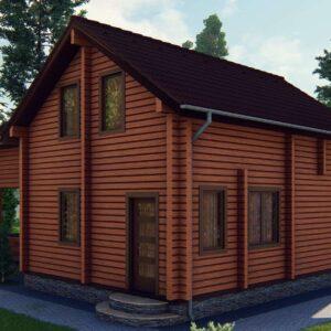 Строительство деревянный дом из бруса сруб из дерева деревянный цена купить D002