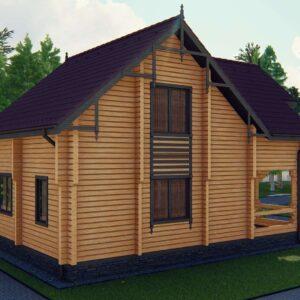 Строительство деревянный дом из бруса сруб из дерева деревянный цена купить D003