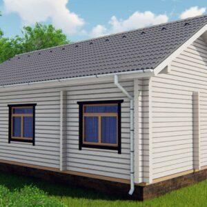 Строительство деревянный дом из бруса сруб из дерева деревянный цена купить D004