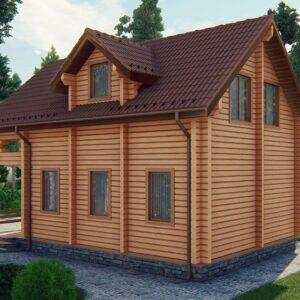 Строительство деревянный дом из бруса сруб из дерева деревянный цена купить D005