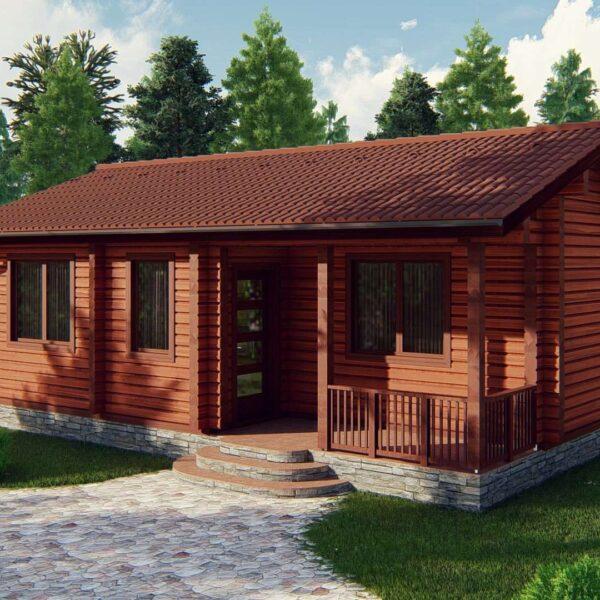 Строительство деревянный дом из бруса сруб из дерева деревянный цена купить D007