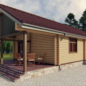 Берестечко Строительство деревянный дом из бруса сруб из дерева деревянный цена купить D008