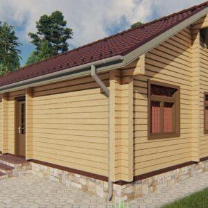 Строительство деревянный дом из бруса сруб из дерева деревянный цена купить D008