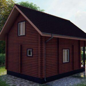 Строительство деревянный дом из бруса сруб из дерева деревянный цена купить D010