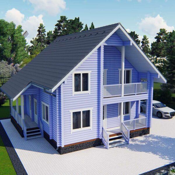 Строительство деревянный дом из бруса сруб из дерева деревянный цена купить D011