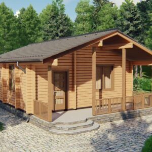 Строительство деревянный дом из бруса сруб из дерева деревянный цена купить D014