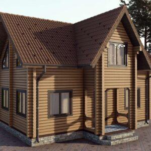 Строительство деревянный дом, под ключ, дом из бруса, сруб, из дерева, деревянные дома, цена, купить, D016