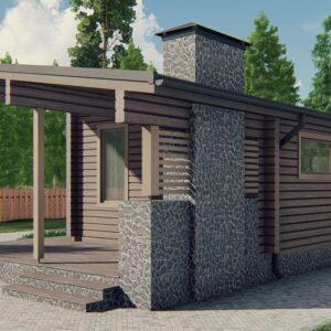 проект бани из бруса, строительство бань в Украине, Киев, баня, сауна, B028 Супотин
